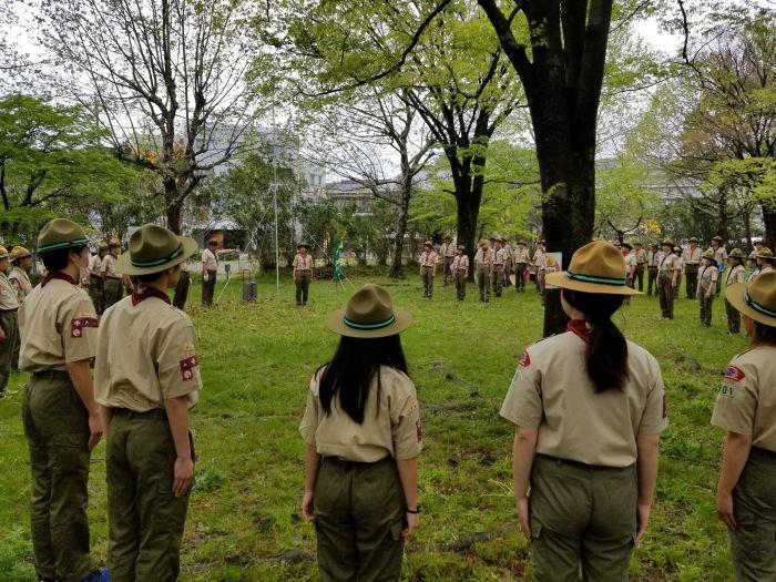 8月に石川県で開催される日本スカウトジャンボリー派遣隊の決隊式典