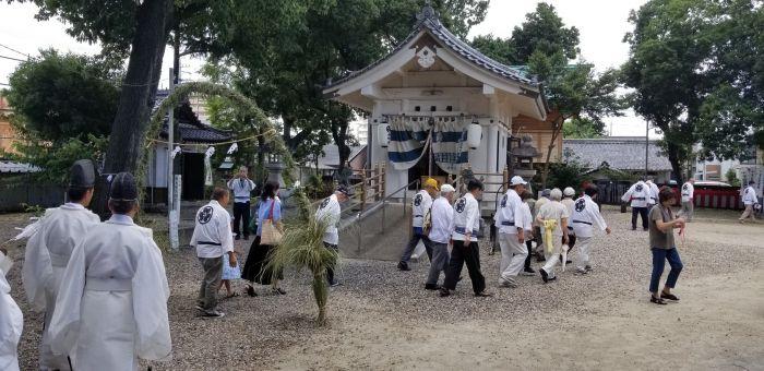 廿軒屋神明社の夏越のみ祭り