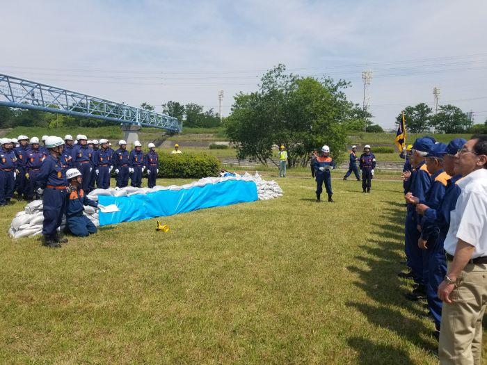 守山区の総合水防訓練が開催されました。