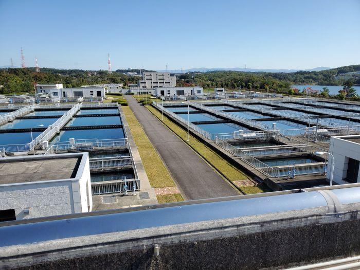 愛知県の尾張東部浄水場に調査に来ています。