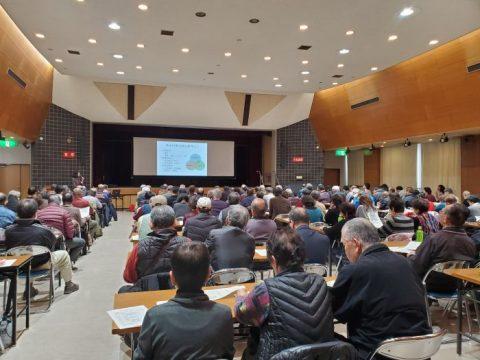 守山区の西側5学区が中心となって大規模水害時の避難行動についての講習会が区役所講堂で開催中です。