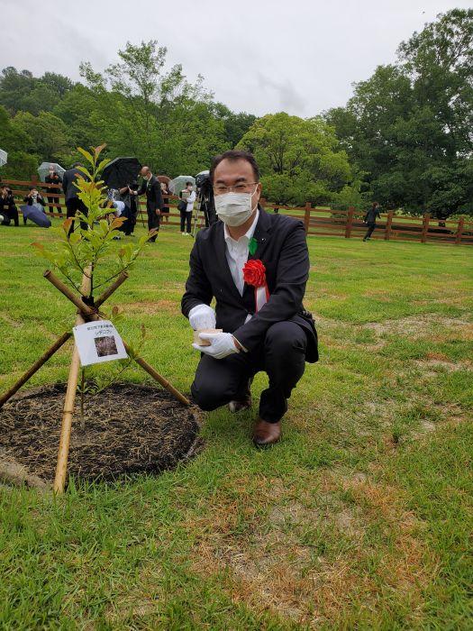 第70回全国植樹祭の1周年記念行事に参加しました。