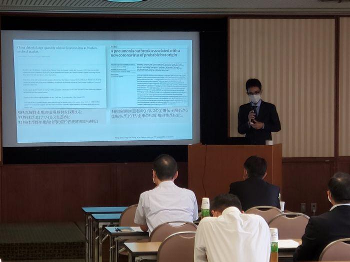 陶生病院の感染症内科部長の武藤義和先生に来ていただいての勉強会です。