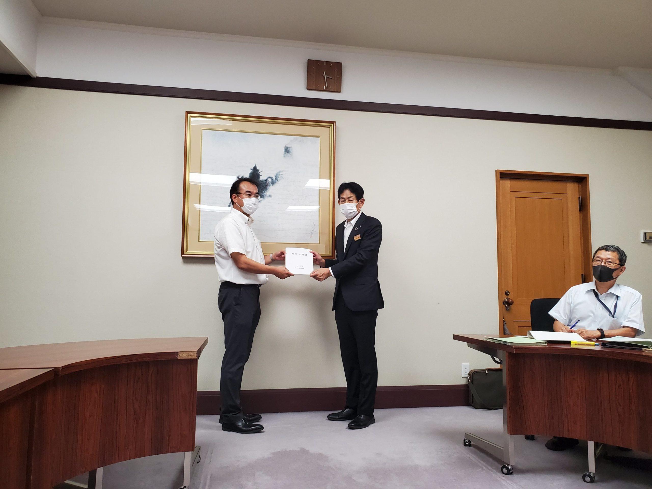 知事宛に守山区の要望書を提出しました。