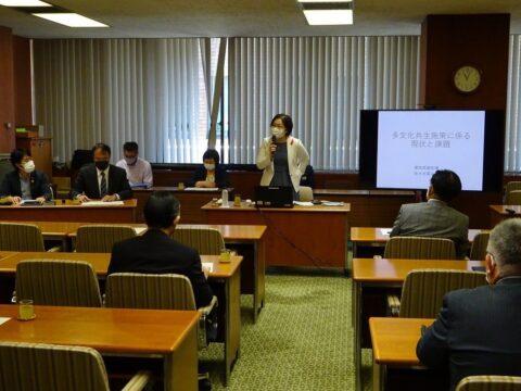 私が会長務める多文化共生議連で新任の佐々木愛知県副知事を講師に技能実習生についての勉強会を開催しました。